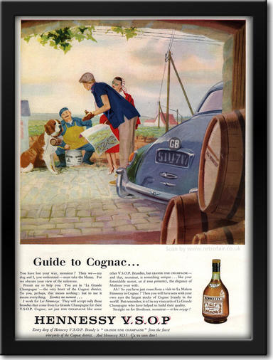 1960 Hennessy Cognac vintage ad