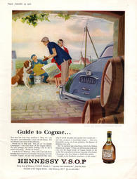 vintage 1960 Hennessy Cognac
