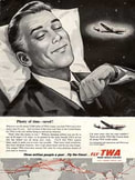 1954 Trans World Airlines (TWA) - vintage ad