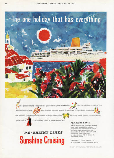 1961 P & O Orient - unframed vintage ad