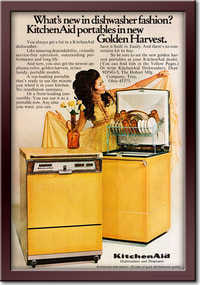 1969 Kitchen Aid Dishwashers - framed preview retro
