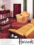 1962 Harrods Traditional Furniture vintage ad