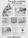 1948 General Electric Automatic Dishwasher  - vintage ad