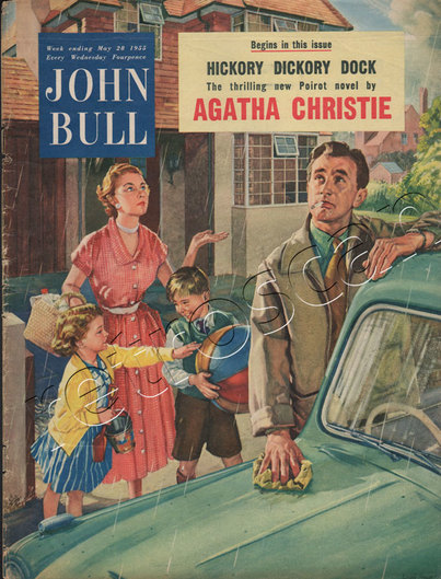 1955 May John Bull Vintage Magazine man washing car  - unframed