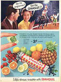 1955 Fruit Spangles (Circus) vintage ad
