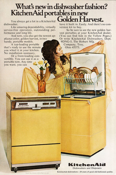1969 Kitchen Aid Dishwashers - unframed vintage ad