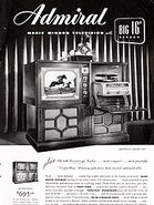 1949 Admiral Televisions