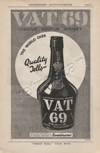 1936 VAT 69 Scotch Whisky vintage ad