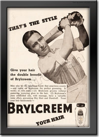 1949 Brylcreem - framed preview retro
