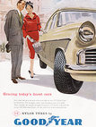 1958 Goodyear Tyres Vintage Ad