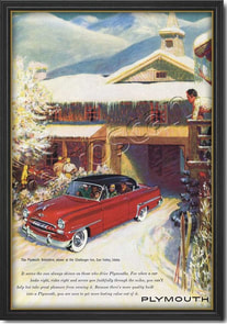 1953 vintage Plymouth Belvedere ad