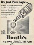 1937 Booths Gin - vintage ad